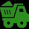 Ein Grünes Icon in Form eines Lastwagens mit Ladung.